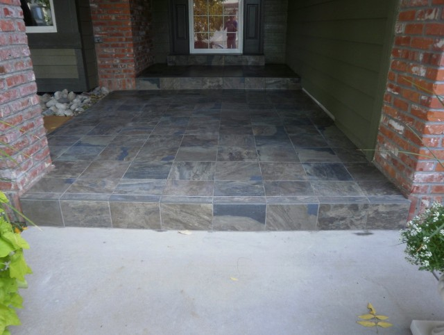 Slate Tile Front Porch