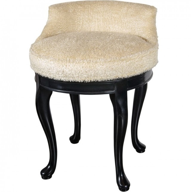 Swivel Vanity Stool With Back