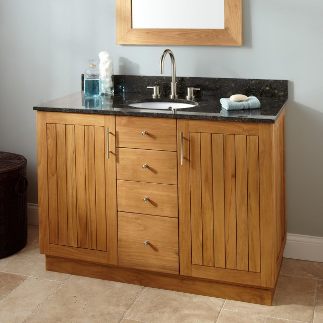Teak Bathroom Vanity 48