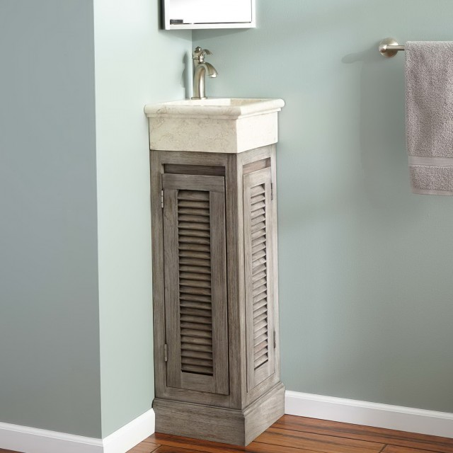 Teak Bathroom Vanity With Stone Legs