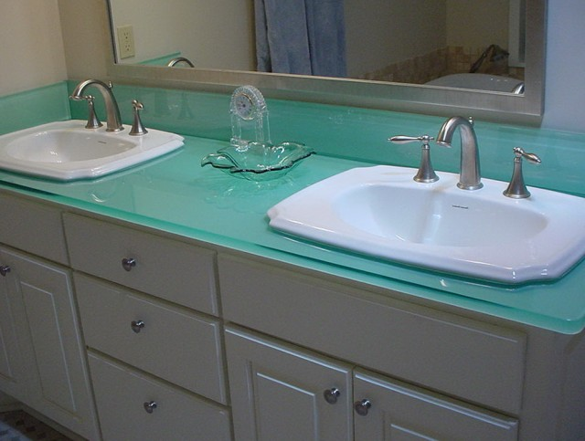 Tempered Glass Vanity Top