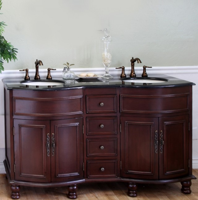 Traditional Double Sink Bathroom Vanities