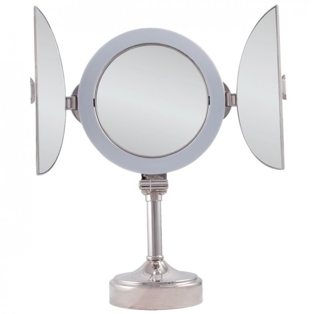 Tri Fold Vanity Mirror With Lighted