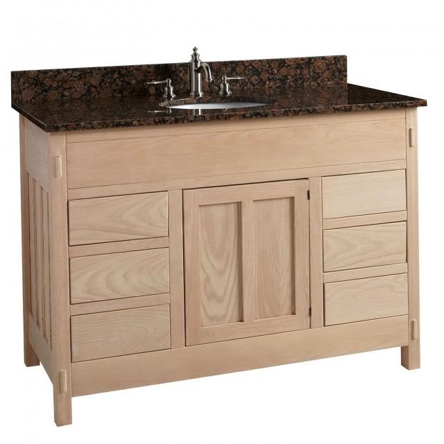 Unfinished Wood Bathroom Vanity