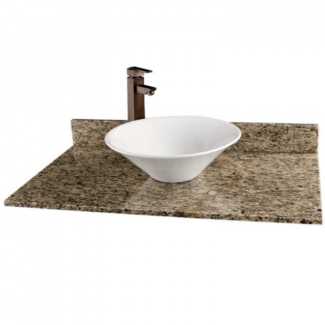 Vanity For Vessel Sink Granite Top