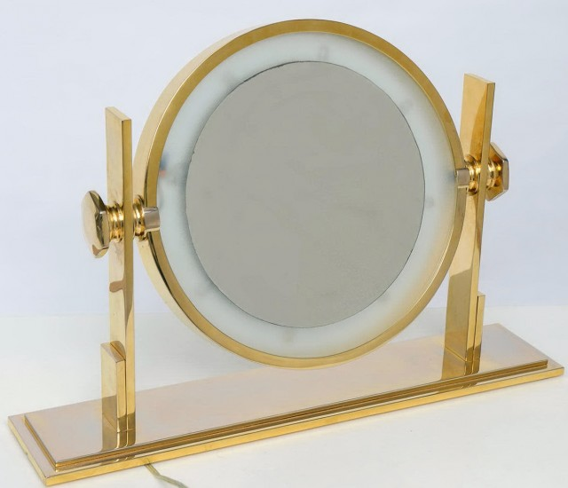 Vanity Light Mirror Table