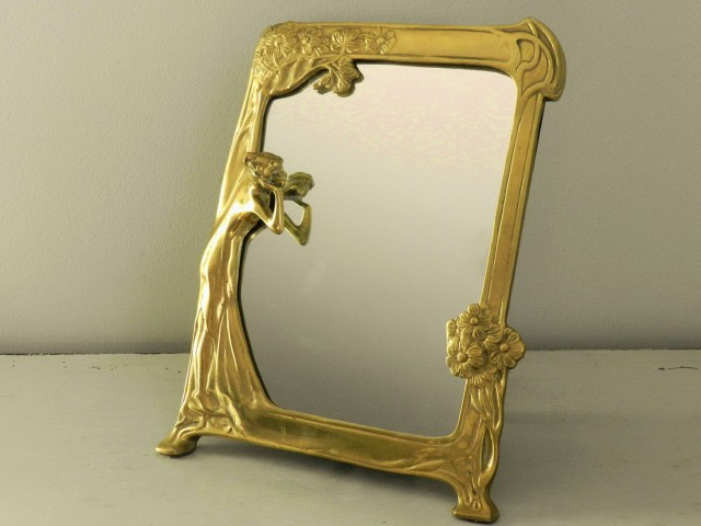 Vintage Vanity Mirror Drawing