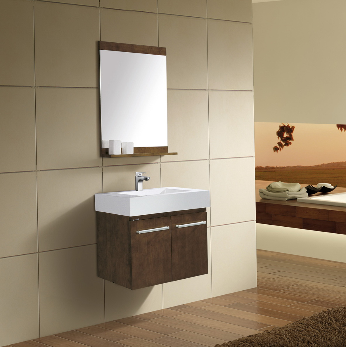 Wall Mounted Bathroom Vanities Cabinets