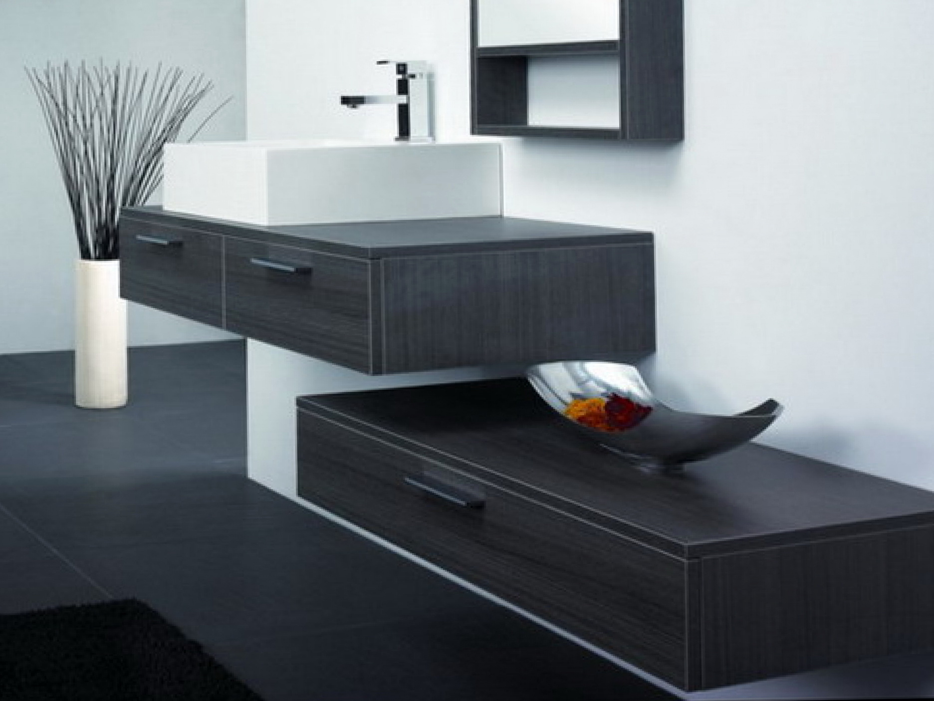 Wall Mounted Vanities Contemporary