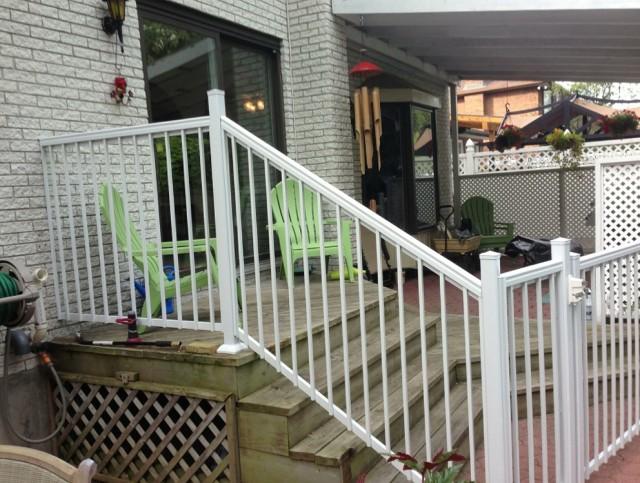 White Aluminum Porch Railing