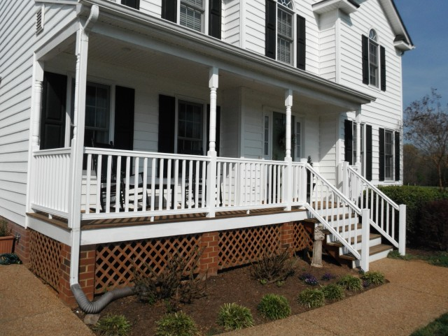 White Front Porch Railing