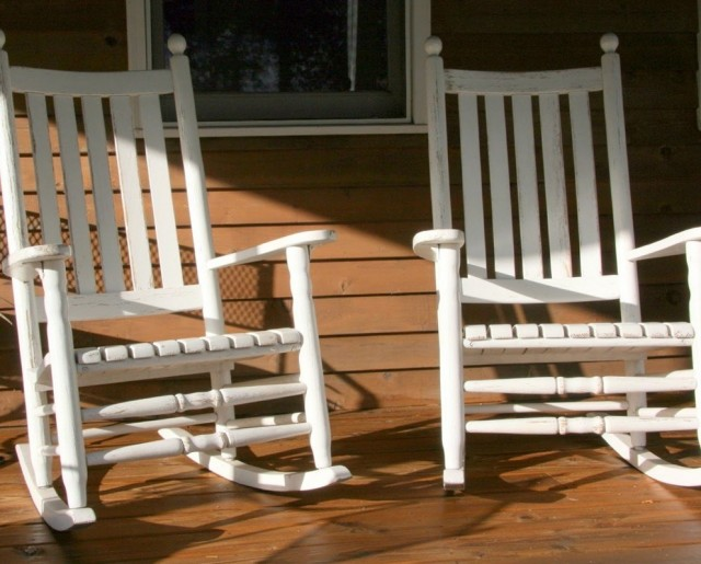 White Porch Rocking Chair Home Depot