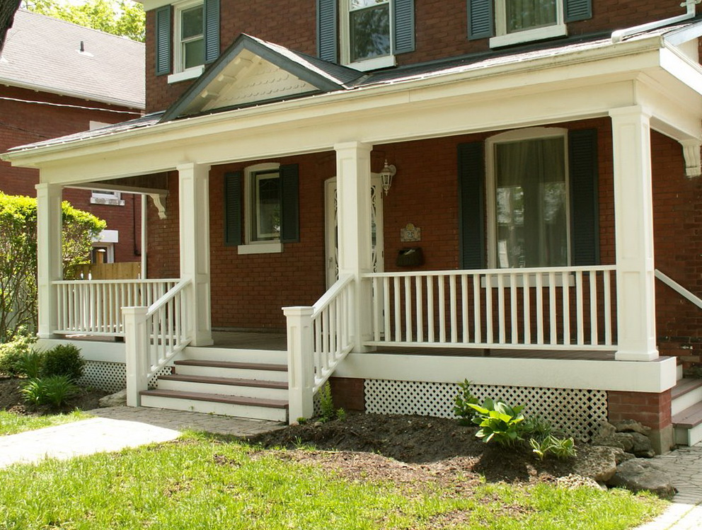 White Railing For Porch