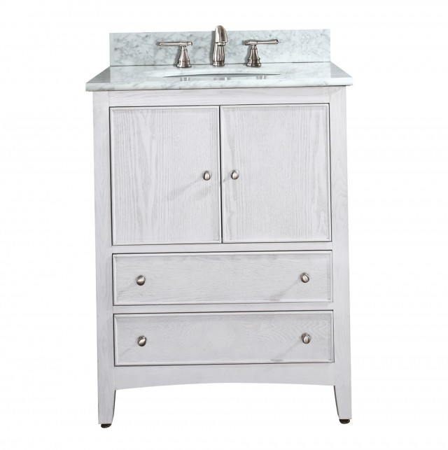 White Single Sink Bathroom Vanities