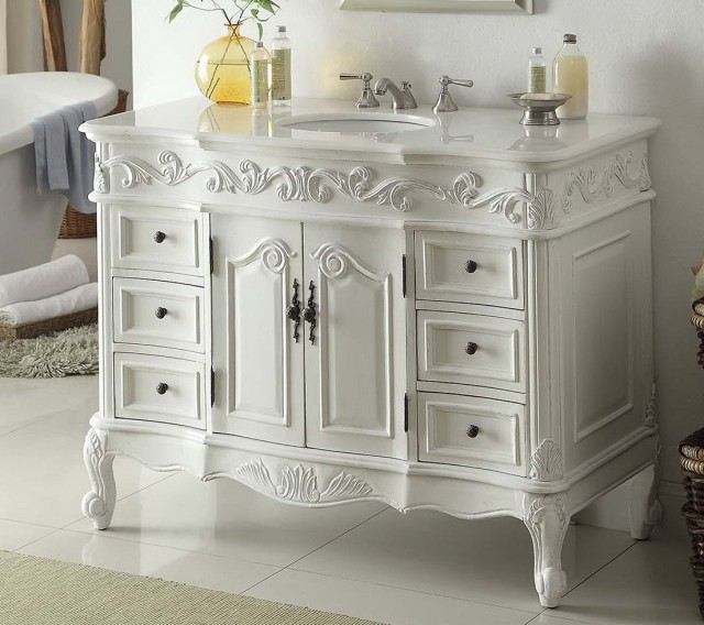 White Vintage Bathroom Vanities
