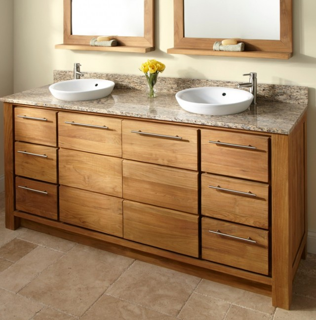Wood Bathroom Vanities Sink