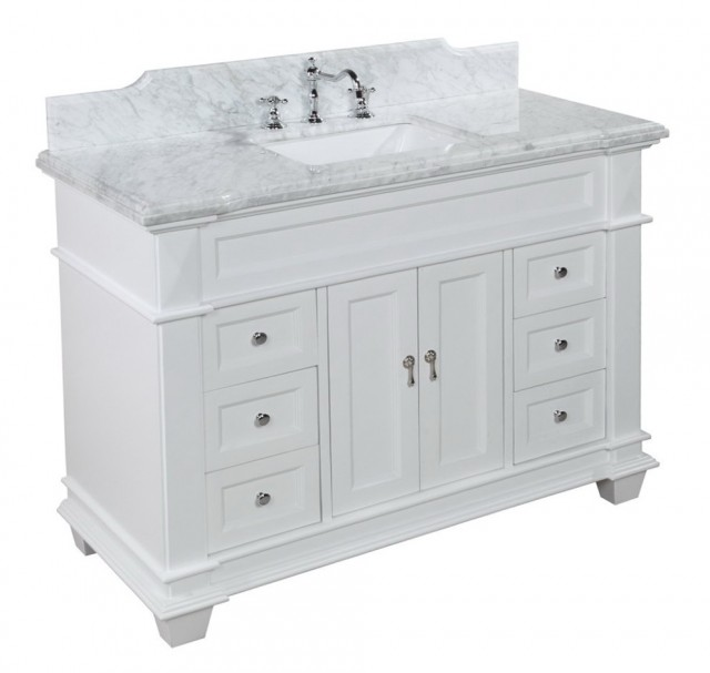 48 White Bathroom Vanity With Top