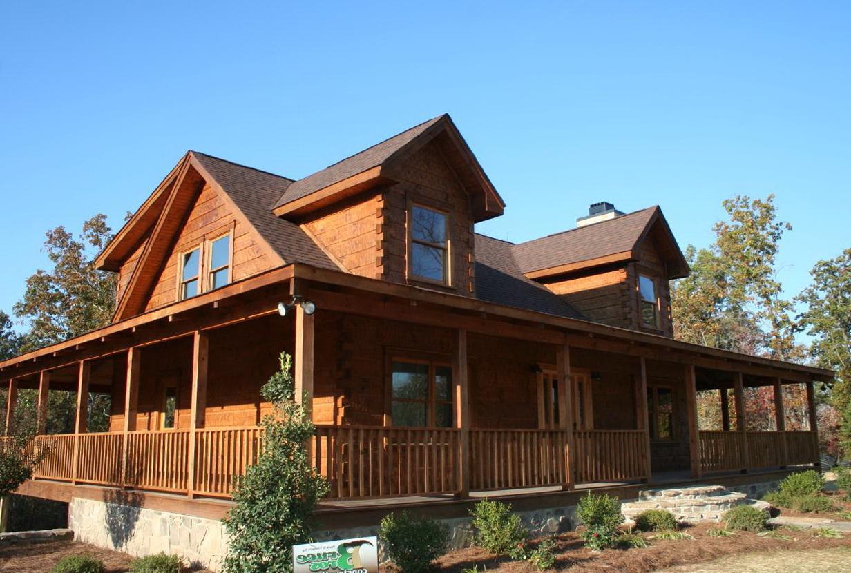 Custom Homes Wrap Around Porch