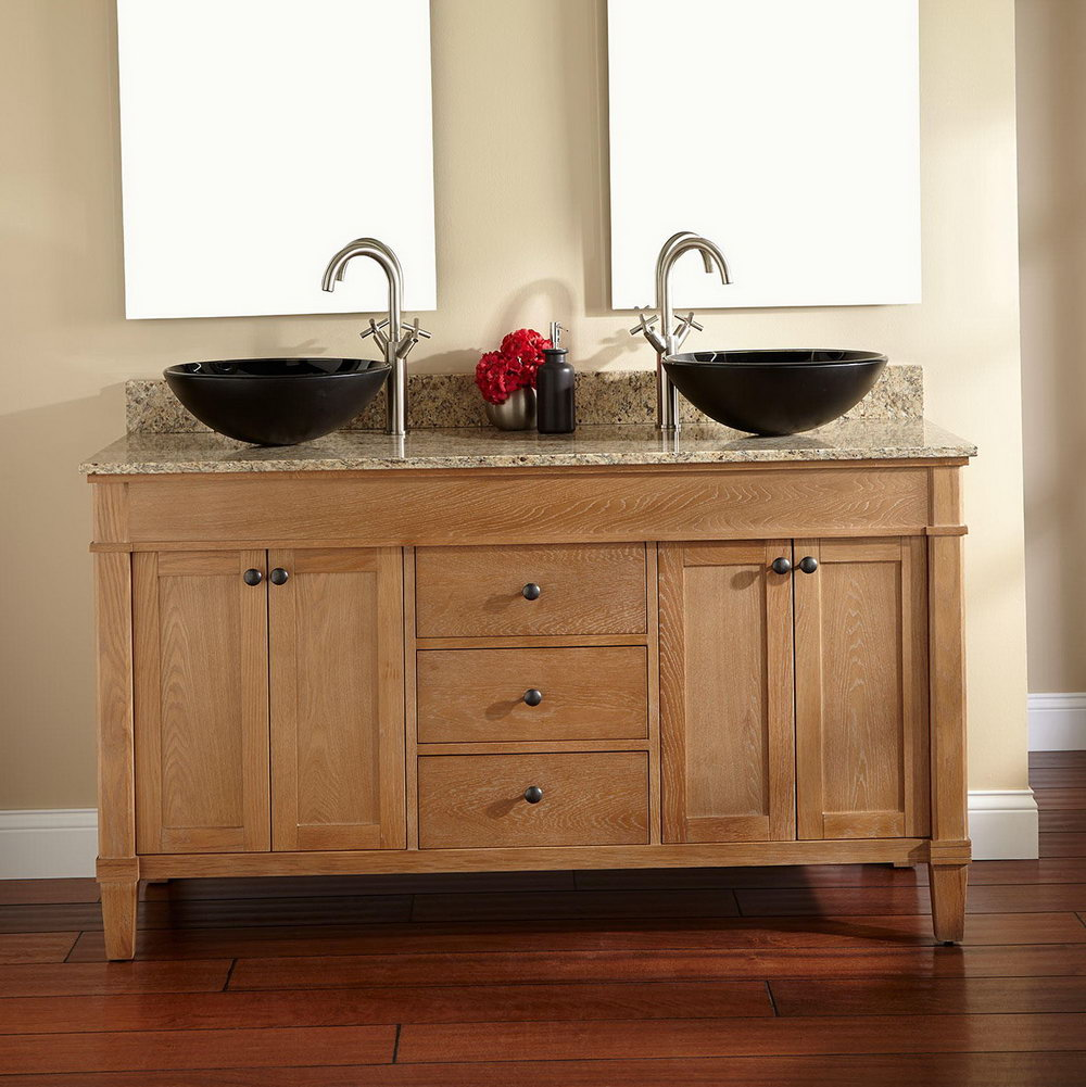 Double Sinks With Makeup Vanity
