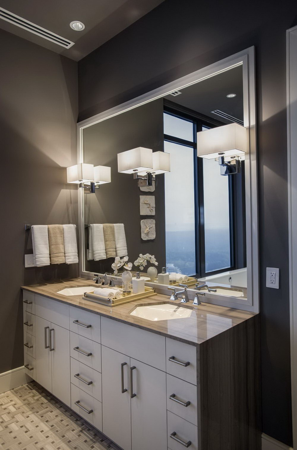 Height Of Bathroom Vanity Sconces