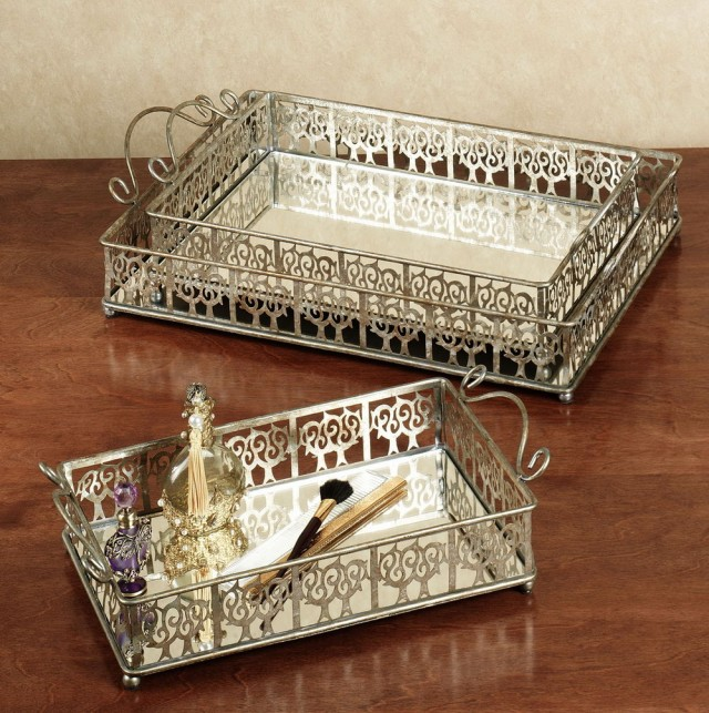 Mirrored Perfume Vanity Tray