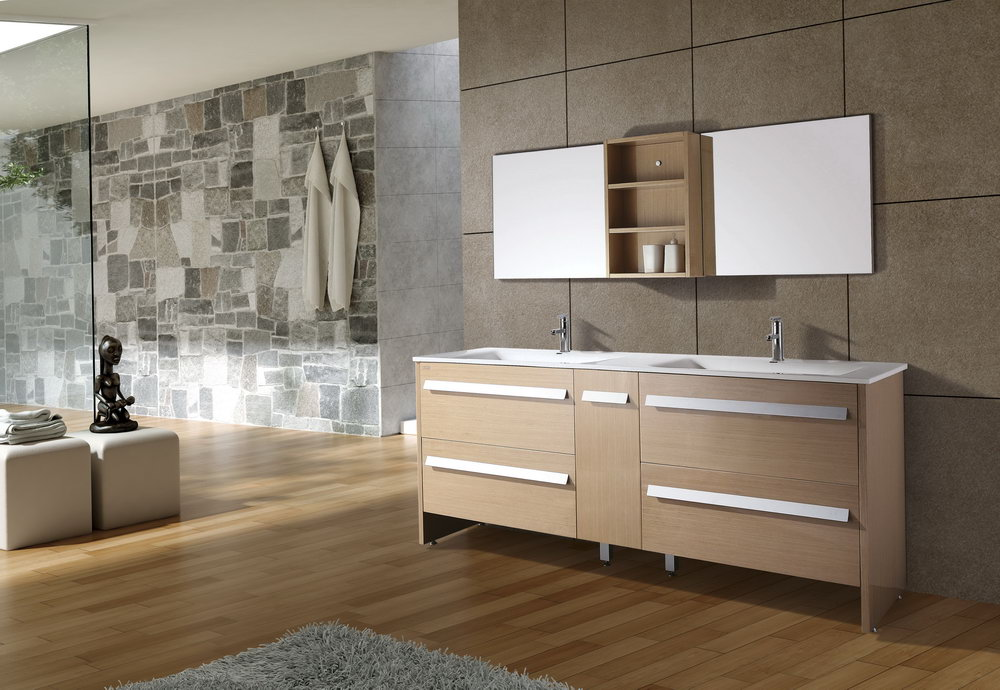 Modern Double Sink Bathroom Vanity