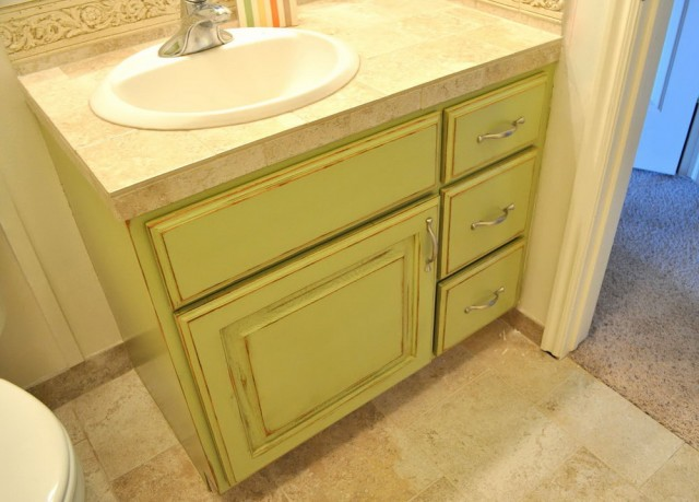 Paint Bathroom Vanity Before After