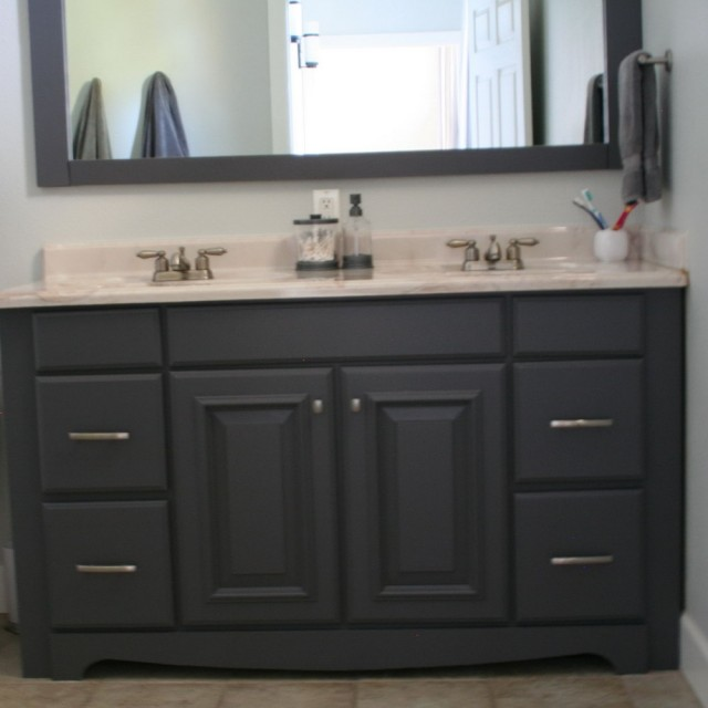 Paint Bathroom Vanity Grey