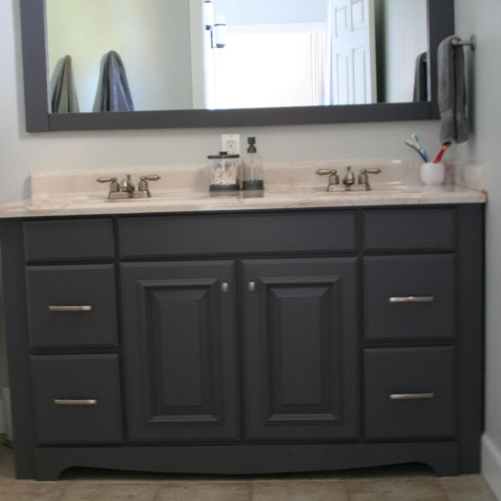 Paint Bathroom Vanity Grey