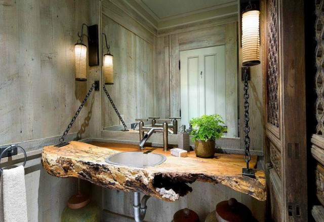 Rustic Bath Vanity Lights