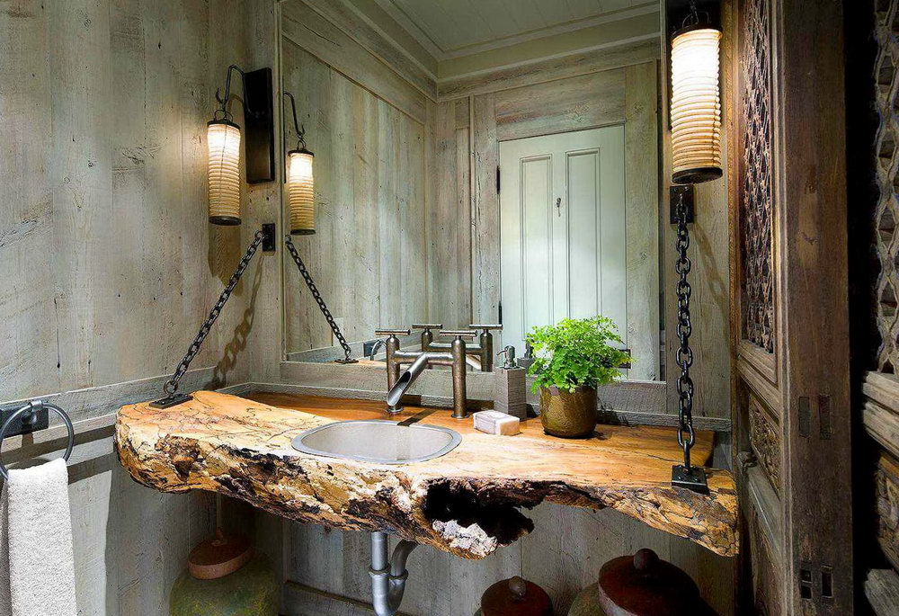 Rustic Bath Vanity Lights