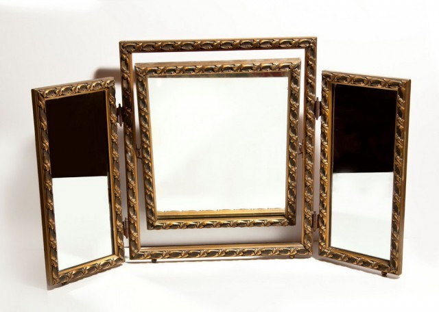 Tri Fold Vanity Mirror 1980s