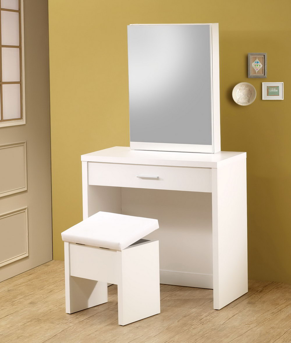 Vanity Mirror With Storage