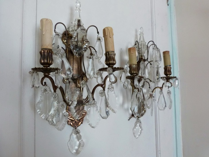 Permalink to Battery Operated Crystal Wall Sconces