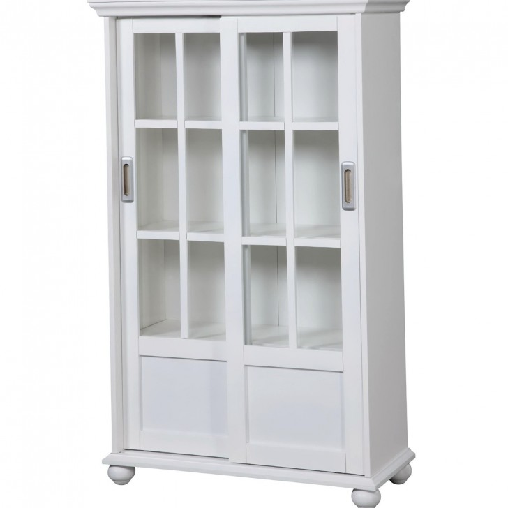 Permalink to Bookcase With Doors White