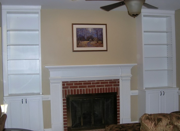 Permalink to Built In Bookcases Around Fireplace
