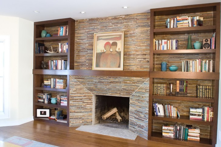 Permalink to Built In Bookshelves Around Fireplace