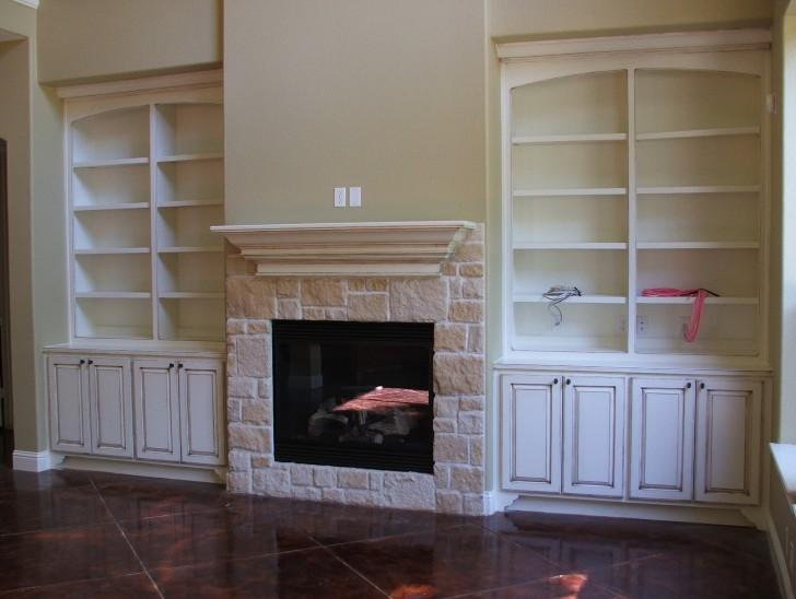 Permalink to Custom Bookshelves Around Fireplace