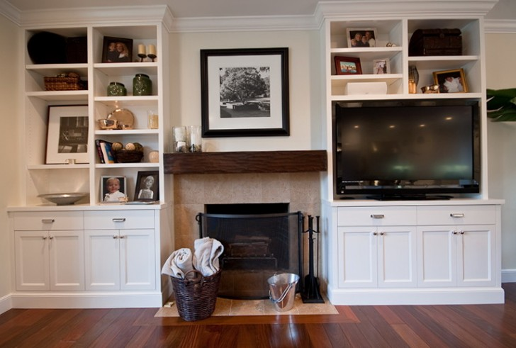 Permalink to Entertainment Center With Fireplace And Bookshelves