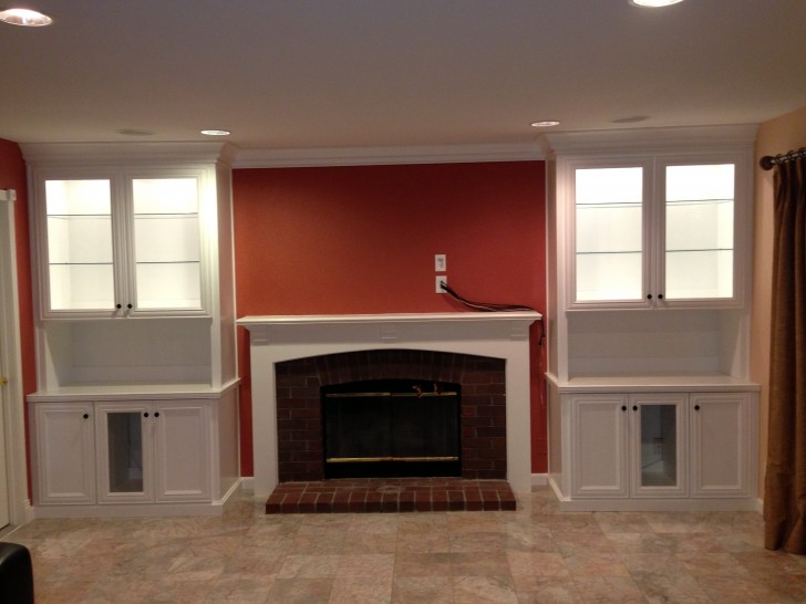 Permalink to Fireplace Mantels With Bookshelves