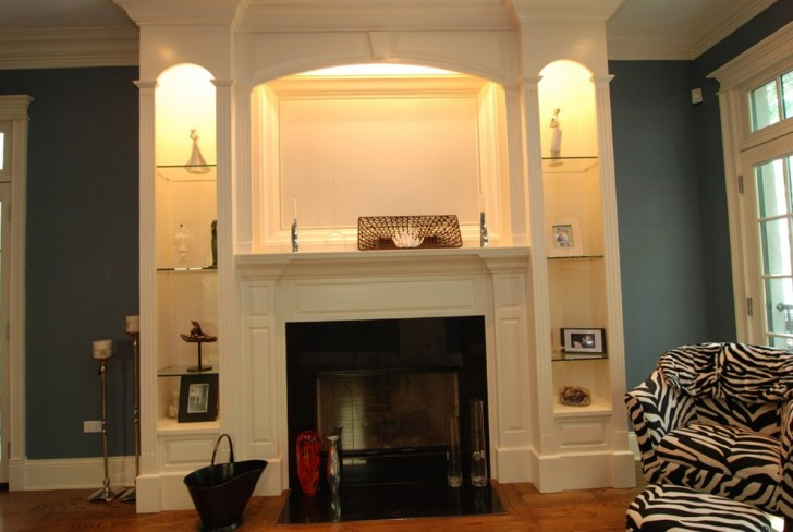 Permalink to Fireplace Surround With Bookshelves