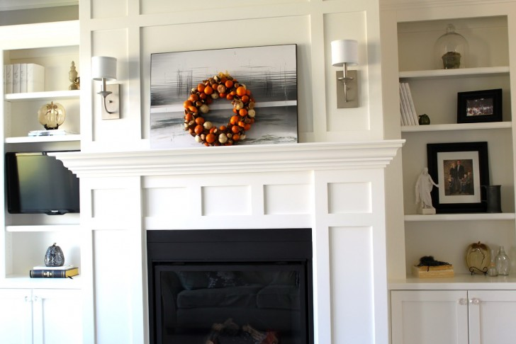 Permalink to Fireplace With Bookshelves On Both Sides