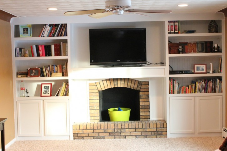 Permalink to Fireplace With Bookshelves On Each Side Ideas