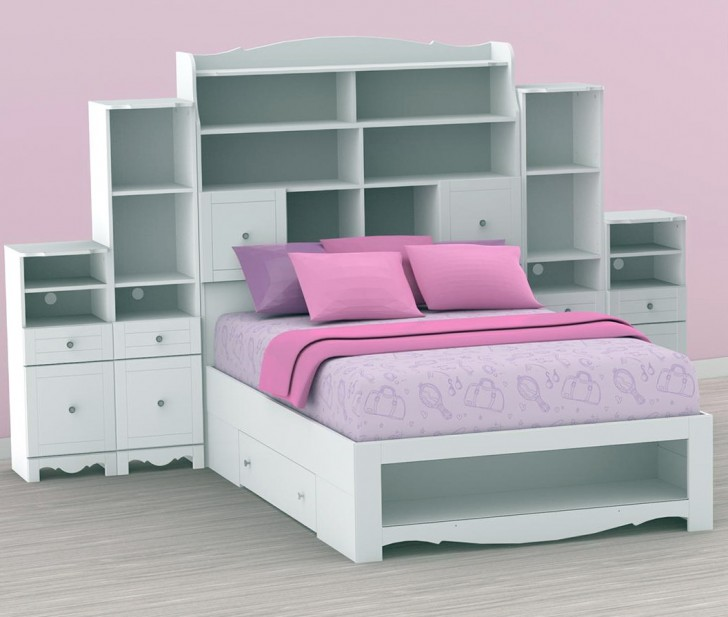 Permalink to Full Size Bookcase Headboard White