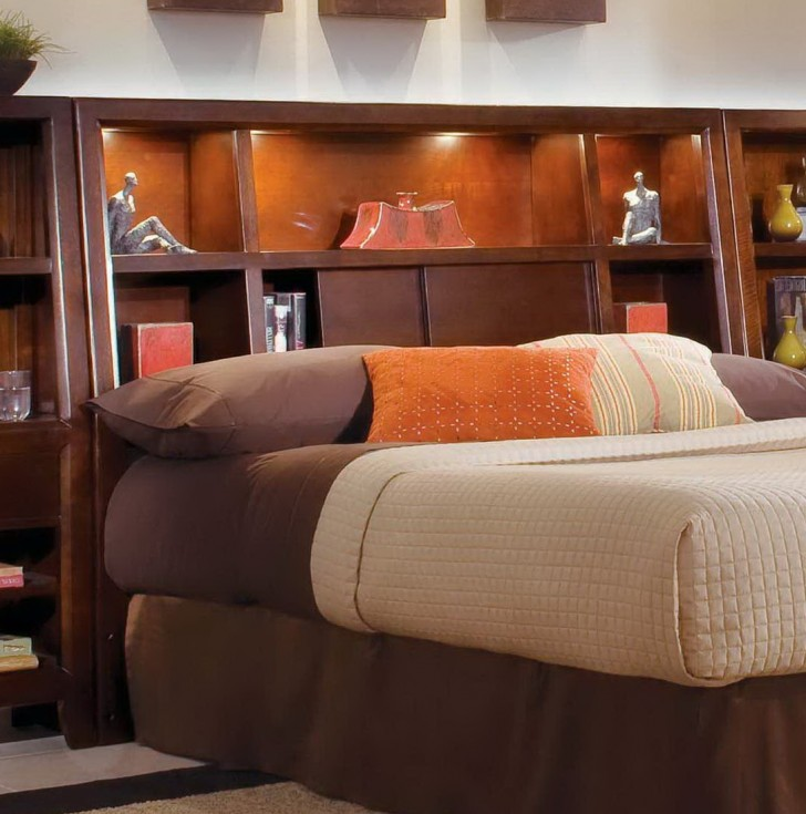 Permalink to King Size Bookcase Headboard With Lights