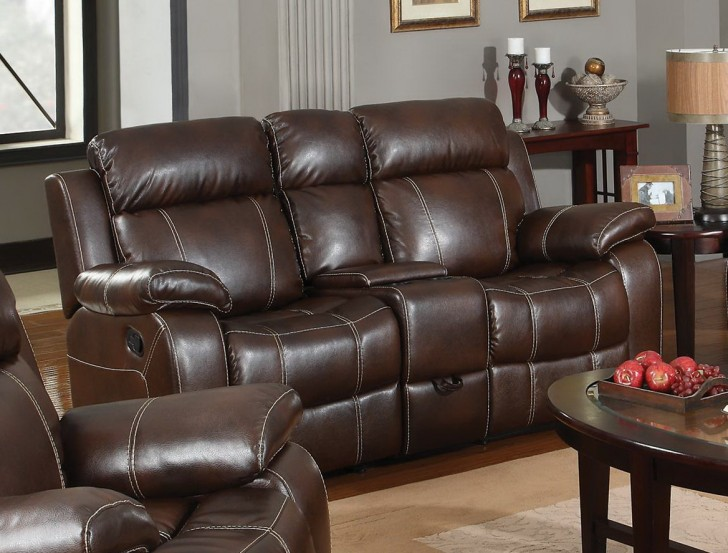 Permalink to Leather Reclining Loveseat With Center Console
