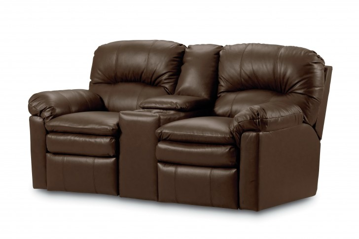 Permalink to Leather Reclining Loveseat With Console