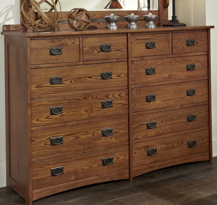 Permalink to Mission Style Dresser With Mirror