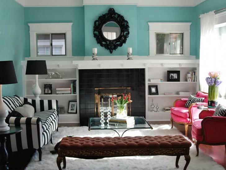 Permalink to Painted Bookshelves Around Fireplace