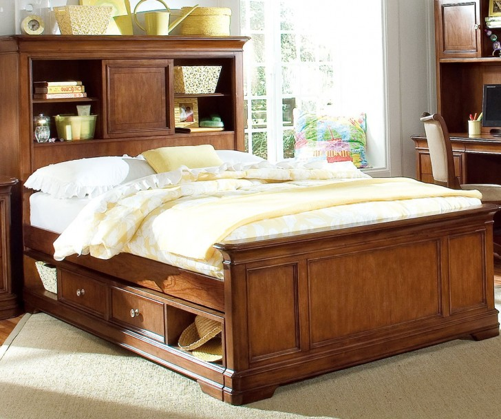 Permalink to Queen Size Bookcase Headboard